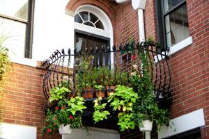 C mo decorar balcones con macetas colgantes - Maceteros colgantes para balcones ...