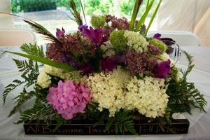 Centros de mesa originales con flores frescas